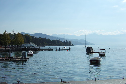 boats on Lake Geneva