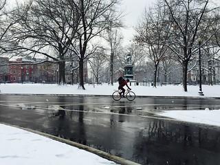 Biking around Logan Circle