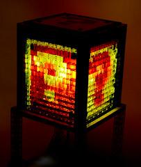 Mosaic Mario Question Block Lamp