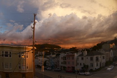 Rare Thinder storm over SF