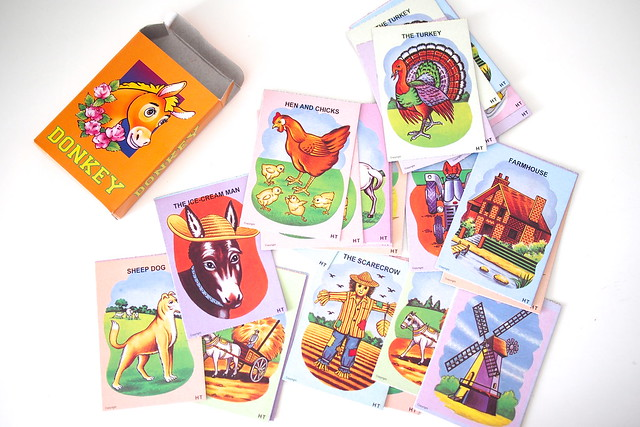 Donkey card game. retro nostalgic old school childhood games, 1980s Singapore