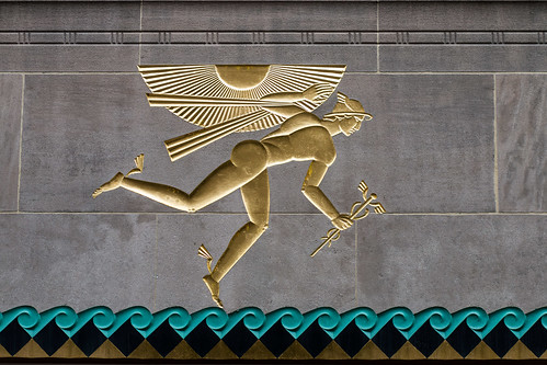 Winged Mercury by Lee Lawrie, 1933, United Nations Plaza, New York