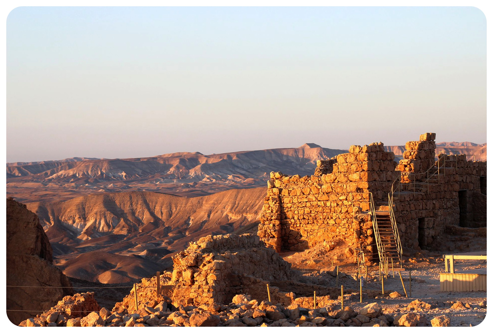 masada and desert