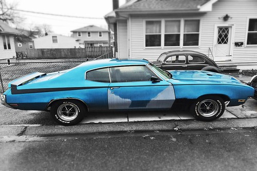 Badass Blue Buick. Spotted this Skylark in Wilmington yesterday.