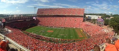 Clemson Memorial Stadium, football game vs. U of Louisville