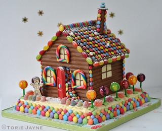 Homemade chocolate house