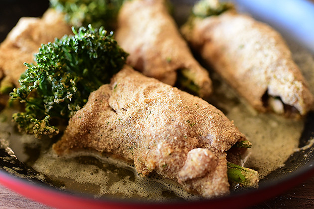 Chicken Broccolini with Mustard Cream Sauce