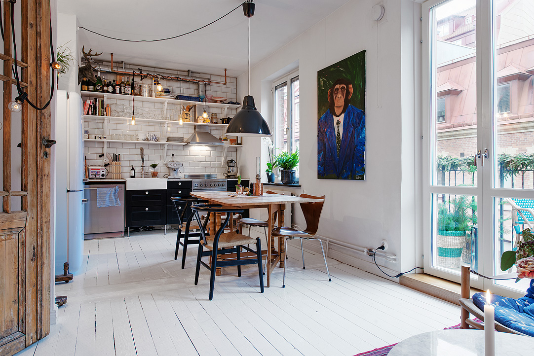 40 m2 styl skandynawski w kolorowej ods onie jagadesign for Loft de 40 metros cuadrados