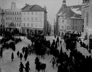 Carnival procession, Québec City, Quebec, 1902 / Défilé du carnaval à Québec (Québec), 1902