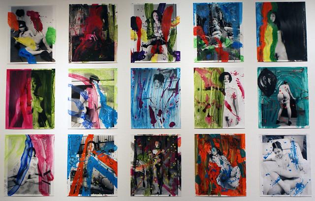 Photo-peintures d'Araki à la FOAM d'Amsterdam