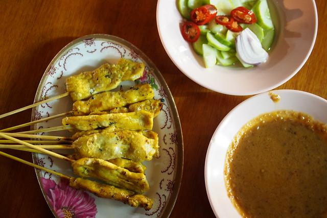 satay, street food, Sukhumvit Soi 38, Bangkok, Thailand