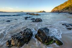 Seal Rocks - rocks and tide at dusk II