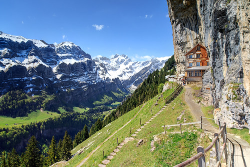 cliff alps switzerland landscapes swissalps mountainsky hotelcabinswiss