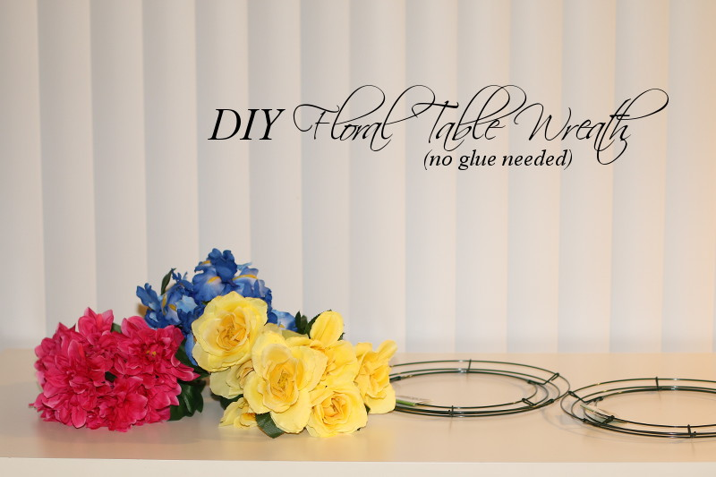 DIY Floral Table Wreath home decor by STYLEanthropy