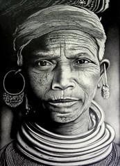Bonda Tribe (Pencil drawing) :