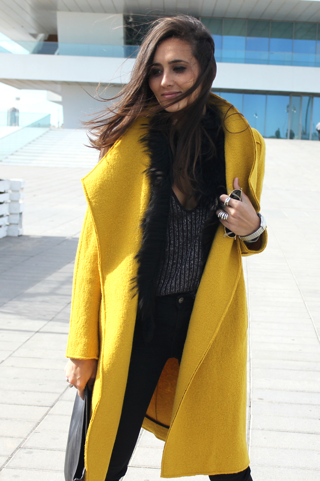 yellow coat fashion shoes coohuco 6