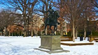 Malcolm X Park Snow Washington DC 52401