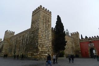 Muralla y Puerta del Leon Real Alcázar Sevilla 03