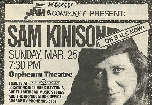 03/25/90 Sam Kinison @ Orpheum Theatre, Minneapolis, MN