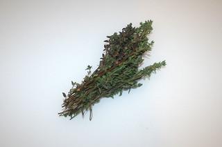 10 - Zutat Thymian / Ingredient thyme