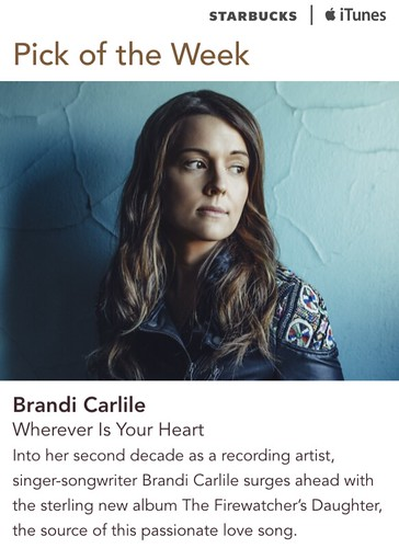 Starbucks iTunes Pick of the Week - Brandi Carlile - Wherever Is Your Heart