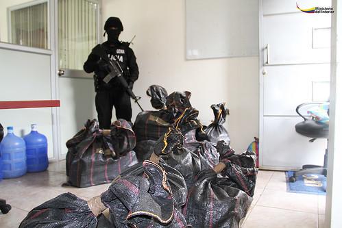 La droga estuvo resguardada por personal del GEMA.