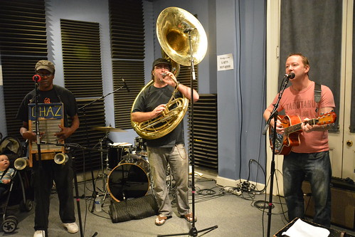 The Tin Men: Washboard Chaz, Matt Perrine, Alex McMurray. Photo by Kichea S Burt.