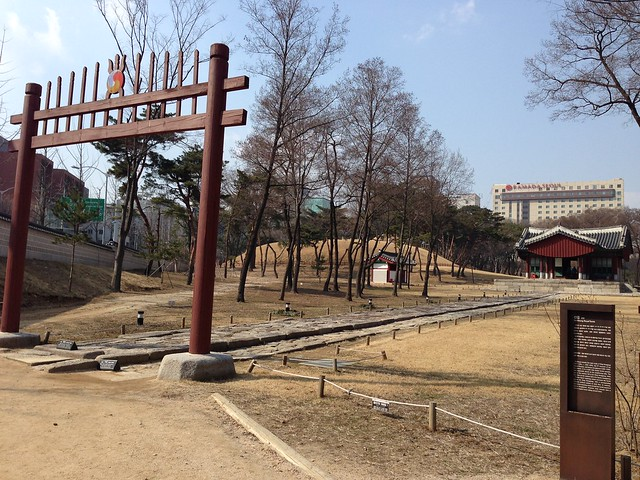 Spiked gate leading to the tombs of King Seongjong & Queen Jeonghyeon