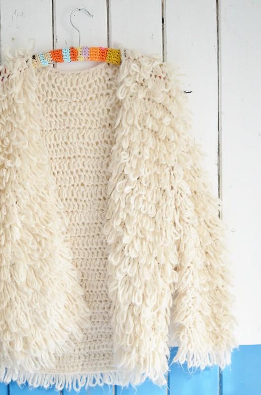 wood & wooly cardigan met mouwen