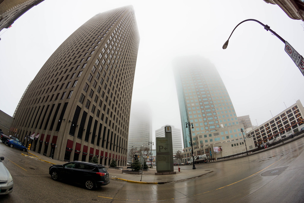 Foggy Downtown - Winnipeg