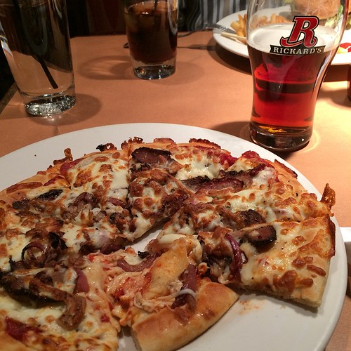 Pizza and beer night. #yegfood