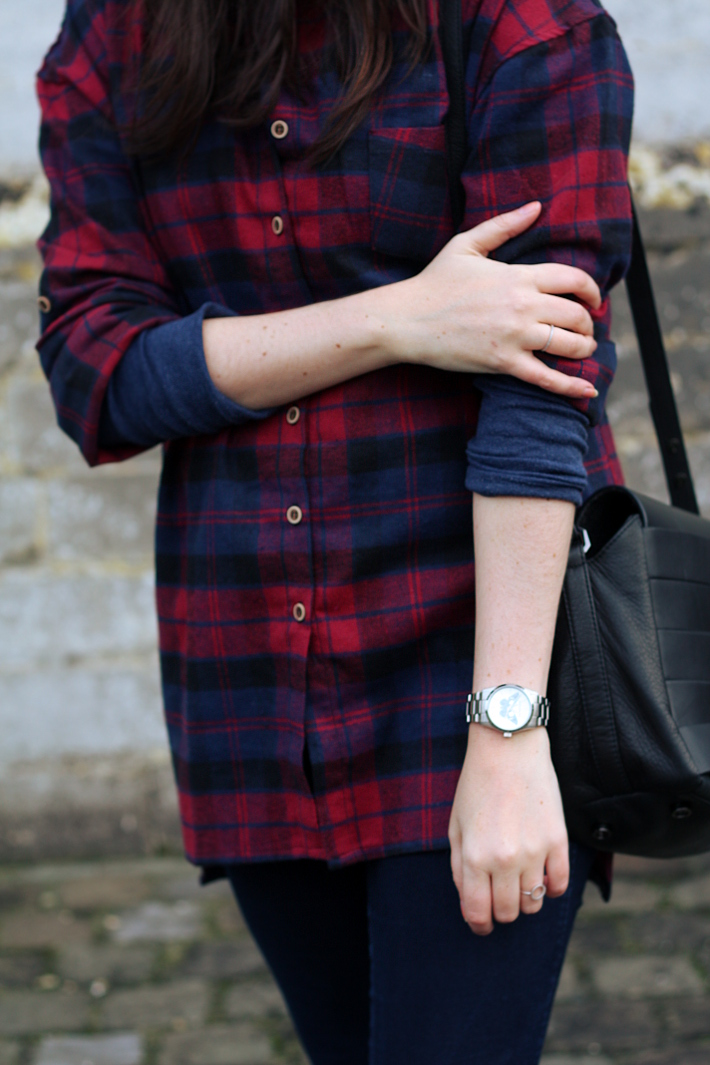 oversized plaid shirt, zadig and voltaire watch