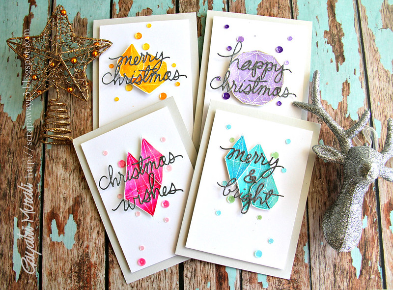 Crystal card set