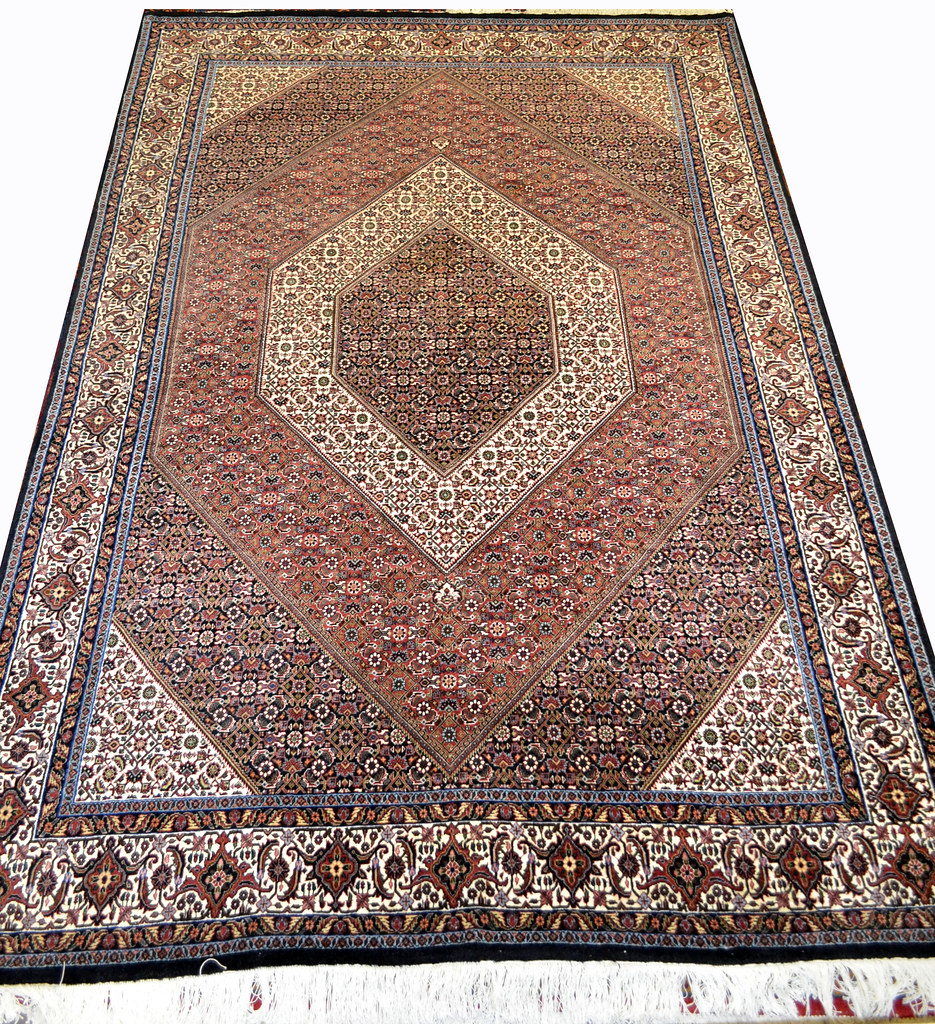 Geometric Fish Bidjar Takab Wool Persian Rug