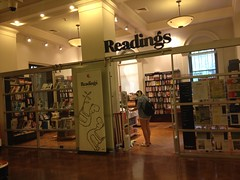 Readings Bookstore inside the State Library of Victoria