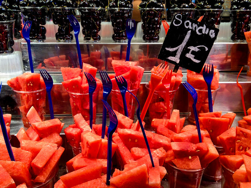 Watermelon at Barcelona La Boqueria