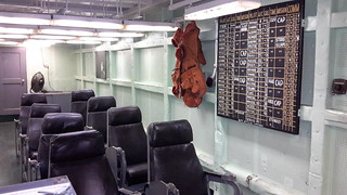 In the briefing room of the USS Yorktown