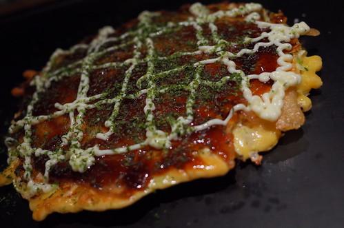 okonomiyaki sauce & mayonnaise, aonori