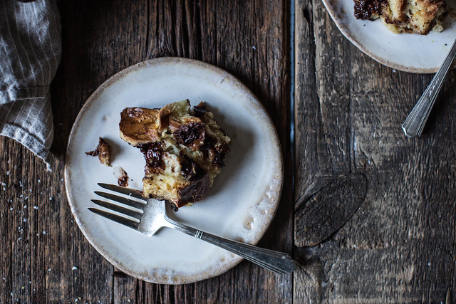 ... chocolate + orange bread pudding (a.k.a. easiest bread pudding ever