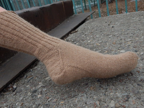 носок целиком на ноге1