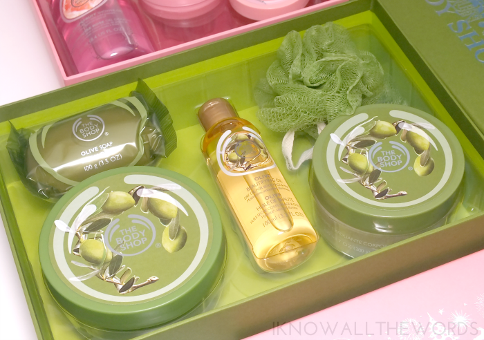body shop gift sets- olive oil