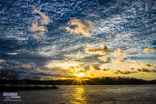 sunset sky lake reflection nature water clouds georgia unitedstates gainesville lanier hollypark lakelanier hallcounty thesussman sonyslta77 sussmanimaging