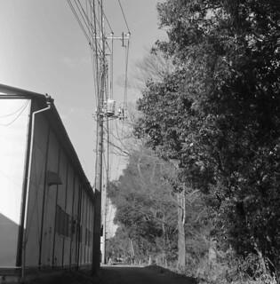 Transformer on a telephone pole