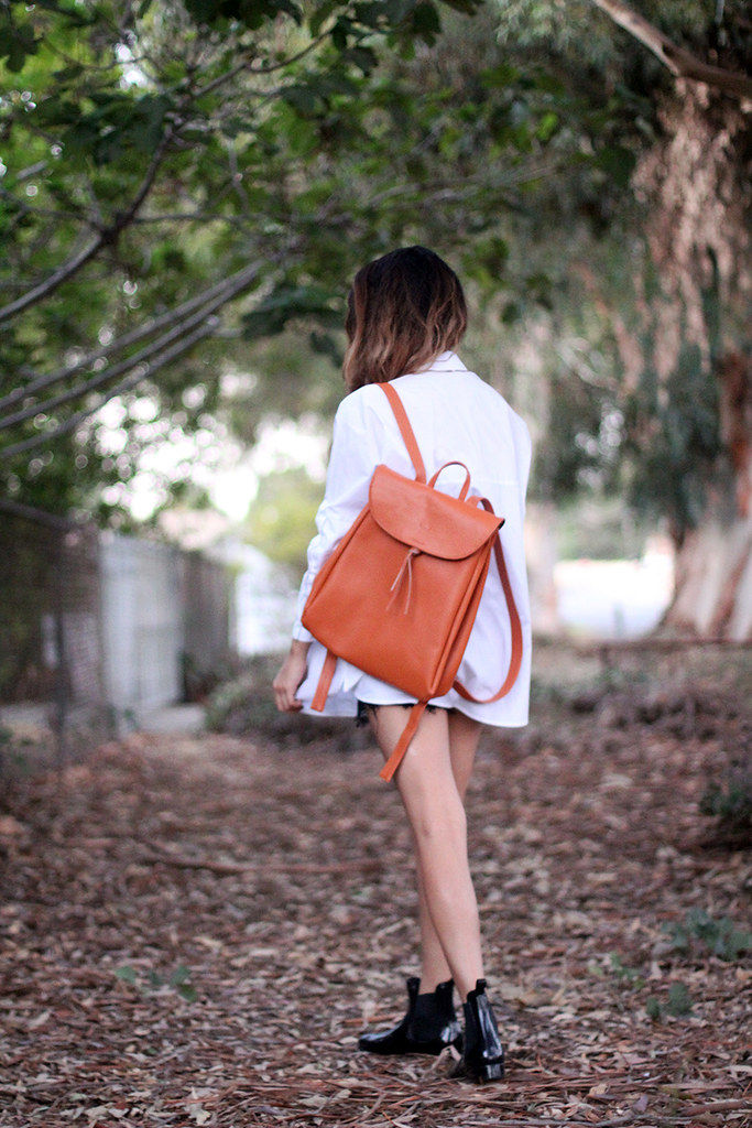 The WhitePepper vintage leather backpack