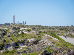 Rottnest - lighthouse / cyclist