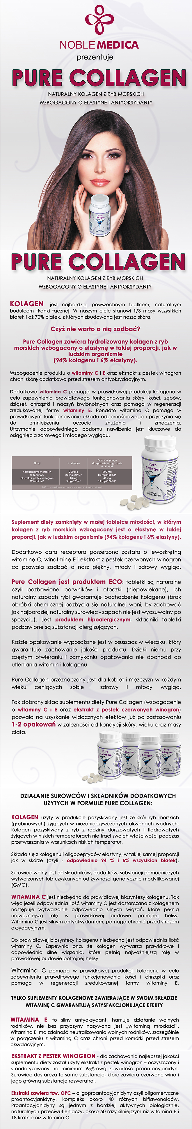 Pure Collagen kolagen w tabletkach
