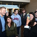 LMU School of Film & Television posted a photo:	A film student takes advantage of the opportunity to chat and be photographed with Branagh. | Photo by Juan Tallo