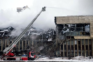 Moscow Library Fire