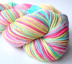 'Pinwheel' on 3-ply merino