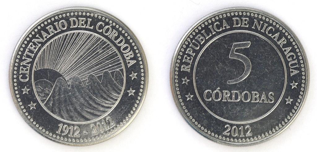 5 Córdobas de Nicaragua 2012 16274267195_4d421dce9c_b